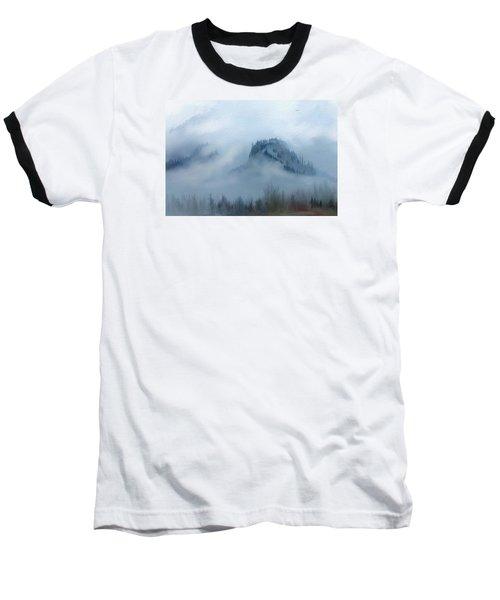The Gorge In The Fog Baseball T-Shirt by Debra Baldwin