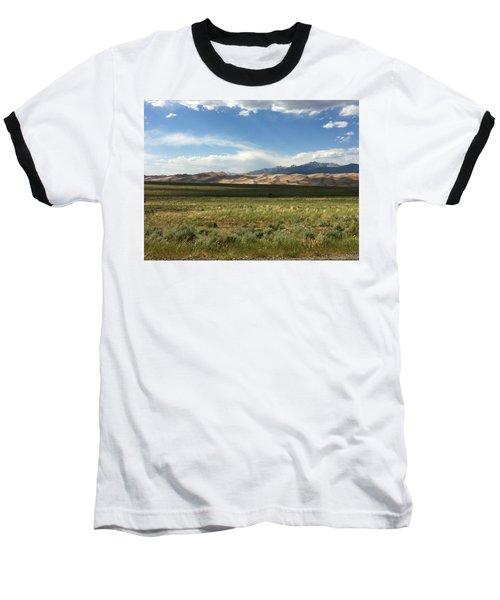 The Great Sand Dunes Baseball T-Shirt by Christin Brodie