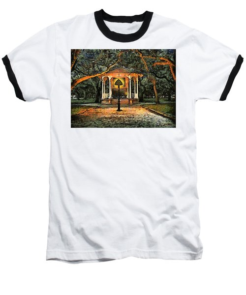 The Haunted Gazebo Baseball T-Shirt by RC deWinter