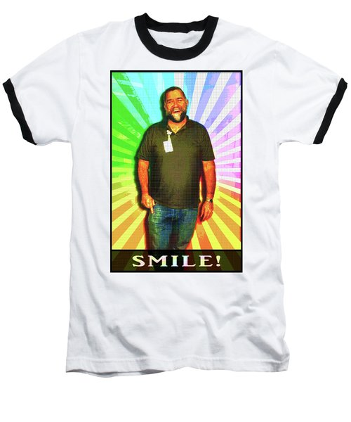Baseball T-Shirt featuring the mixed media The Healing Smile Mosaic by Shawn Dall