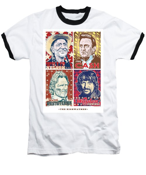 The Highwaymen Baseball T-Shirt by Jim Zahniser
