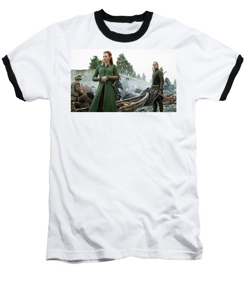 The Hobbit The Battle Of The Five Armies Evangeline Lilly Orlando Bloom Baseball T-Shirt