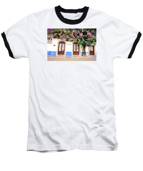 Baseball T-Shirt featuring the photograph The House With The Bougainvillea by Marwan Khoury