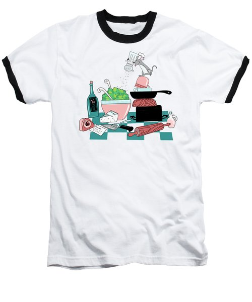The Hungry Mouse Baseball T-Shirt
