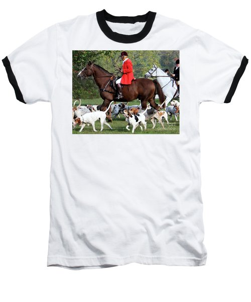Baseball T-Shirt featuring the photograph The Hunt Is On by Polly Peacock