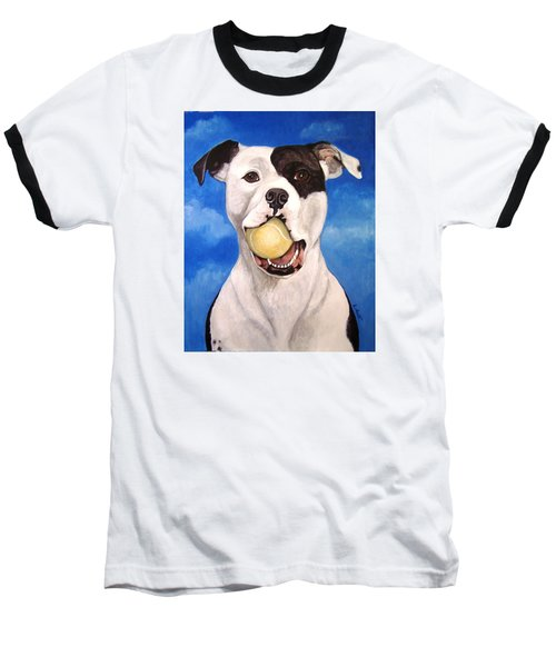 Baseball T-Shirt featuring the painting The Invitation by Laura Aceto