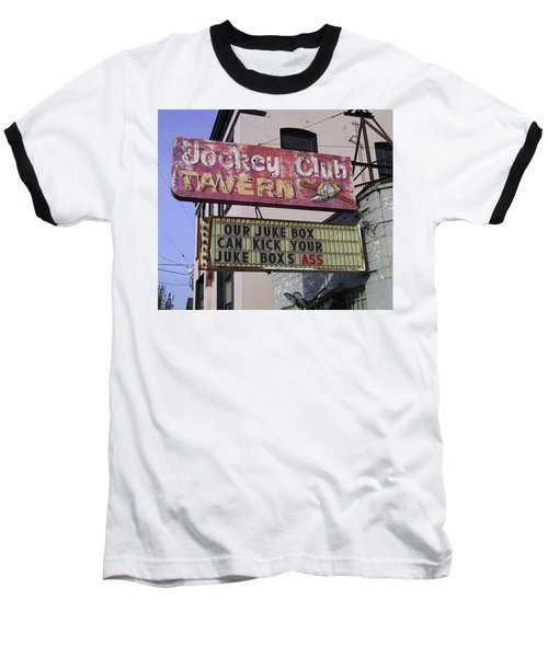 Baseball T-Shirt featuring the photograph The Jockey Club by Frank DiMarco