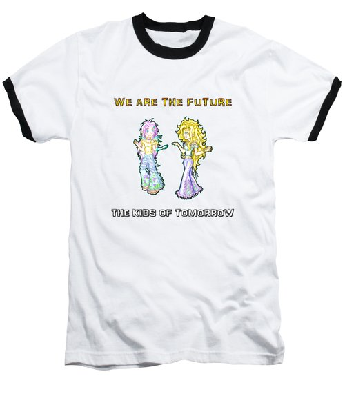 The Kids Of Tomorrow Ariel And Darla Baseball T-Shirt by Shawn Dall