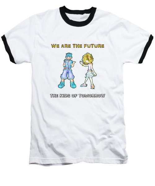 The Kids Of Tomorrow Toby And Daphne Baseball T-Shirt by Shawn Dall