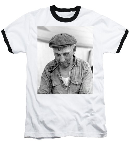 The Pipe Smoker Baseball T-Shirt by John Stephens