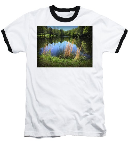 The Lake At Musgrove Mill Baseball T-Shirt by Kelly Hazel
