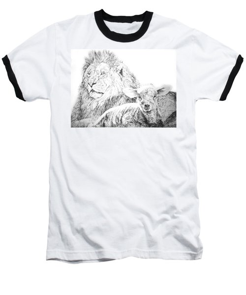 The Lion And The Lamb Baseball T-Shirt