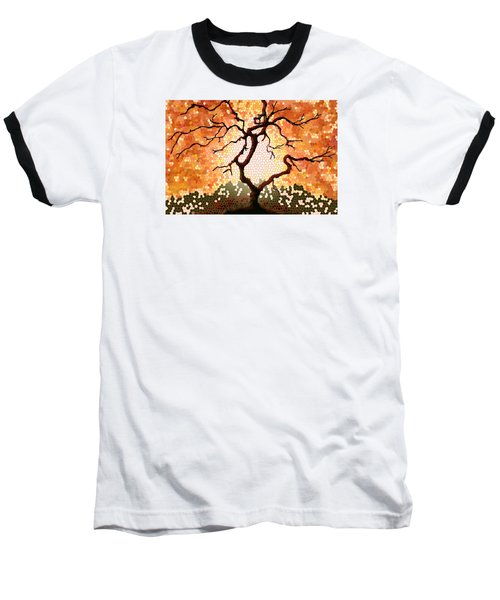 Baseball T-Shirt featuring the painting The Living Tree by Patricia Arroyo