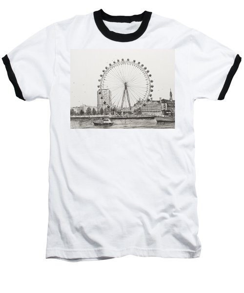 The London Eye Baseball T-Shirt by Vincent Alexander Booth