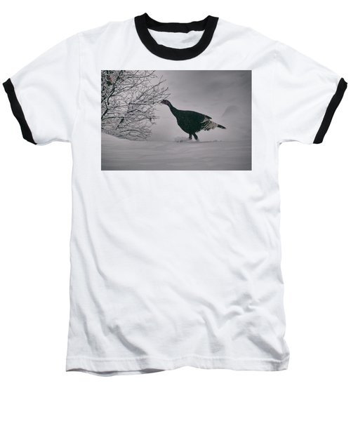 The Lone Turkey Baseball T-Shirt by Jason Coward