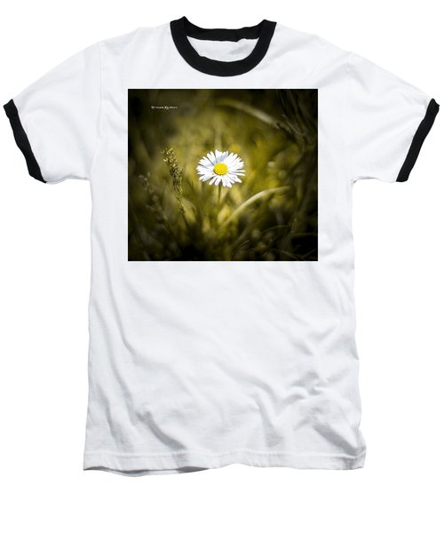 Baseball T-Shirt featuring the photograph The Lonely Daisy by Stwayne Keubrick