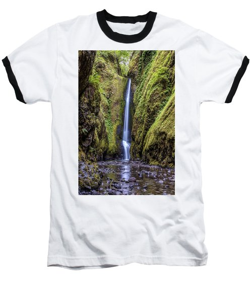 The Lush And Green Lower Oneonta Falls Baseball T-Shirt by Pierre Leclerc Photography