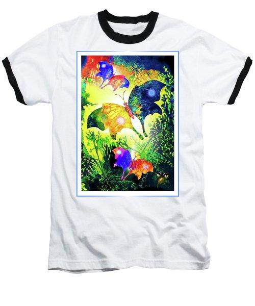 The Magic Of Butterflies Baseball T-Shirt by Hartmut Jager