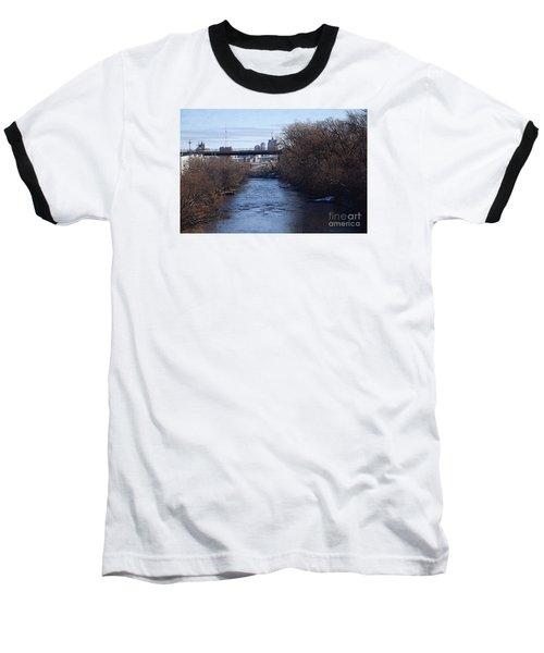 The Menomonee Near 33rd And Canal Streets Baseball T-Shirt by David Blank