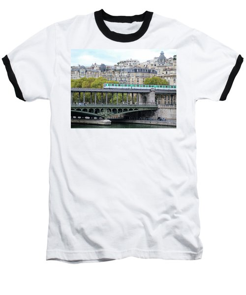 Baseball T-Shirt featuring the photograph The Metro On The Bridge by Yoel Koskas