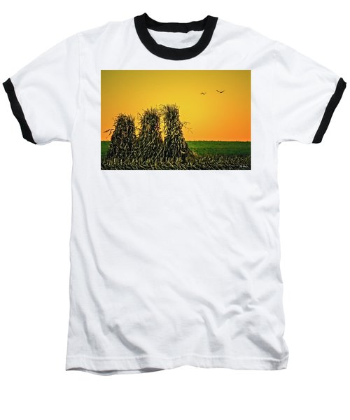 Baseball T-Shirt featuring the photograph The Migration Of Summer by Skip Tribby