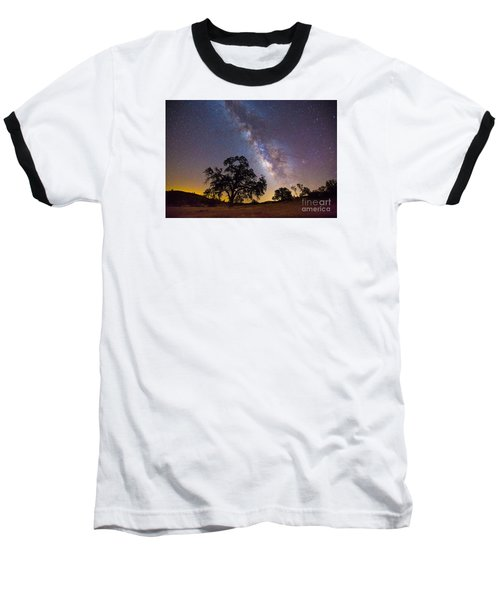 The Milky Way And Perseids Baseball T-Shirt