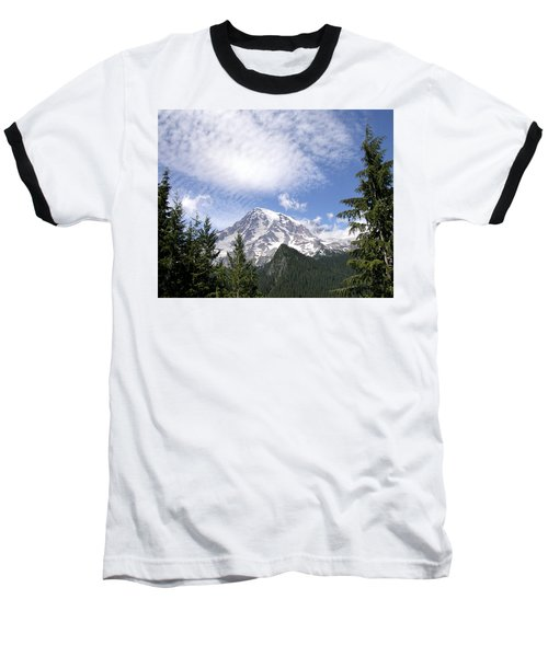The Mountain  Mt Rainier  Washington Baseball T-Shirt