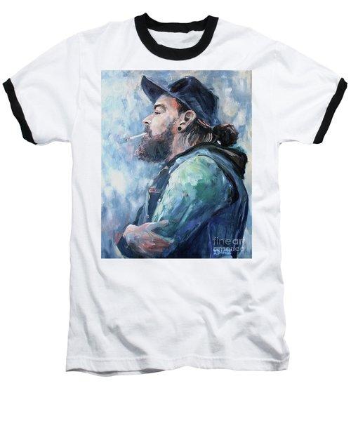 The Music Man Baseball T-Shirt by Diane Daigle
