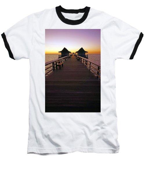 The Naples Pier At Twilight Baseball T-Shirt
