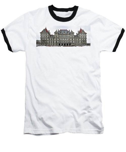 Baseball T-Shirt featuring the photograph The New York State Capitol In Albany New York by Brendan Reals