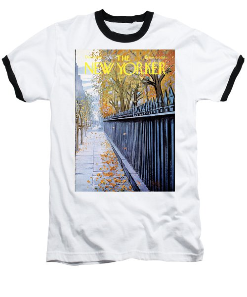 Autumn In New York Baseball T-Shirt