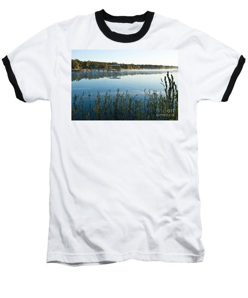 Baseball T-Shirt featuring the photograph The Old Fishing Pier by Tamyra Ayles