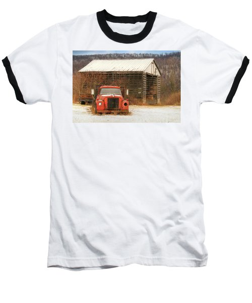 Baseball T-Shirt featuring the photograph The Old Lumber Truck by Lori Deiter