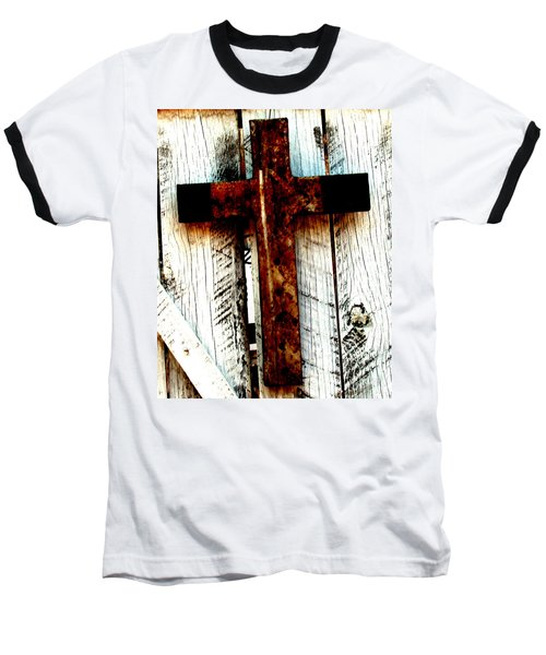 The Old Rusted Cross Baseball T-Shirt
