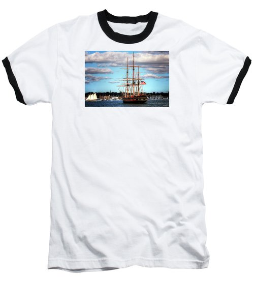 Baseball T-Shirt featuring the photograph Tall Ship The Oliver Hazard Perry by Tom Prendergast