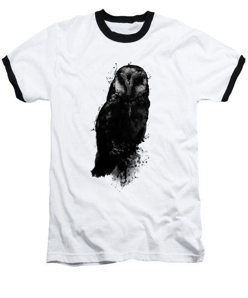 Baseball T-Shirt featuring the mixed media The Owl by Nicklas Gustafsson