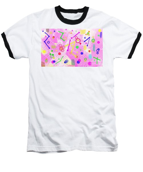 Baseball T-Shirt featuring the digital art The Party Is Here by Silvia Ganora