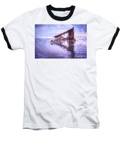 A Stormy Peter Iredale Baseball T-Shirt
