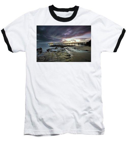 The Pier @ Lorne Baseball T-Shirt by Mark Lucey