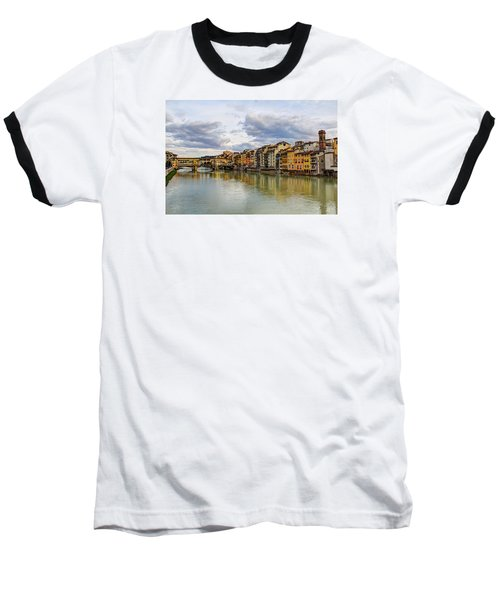 The Ponte Vecchio And Florence Baseball T-Shirt by Wade Brooks
