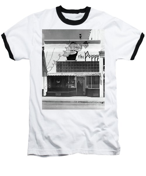 The Poppy, Coffee Shop, Fountain, Alvarado Street, Monterey Circ Baseball T-Shirt
