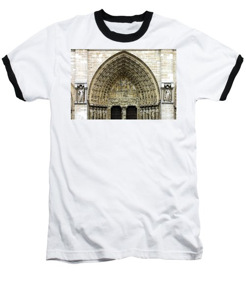 The Portal Of The Last Judgement Of Notre Dame De Paris Baseball T-Shirt