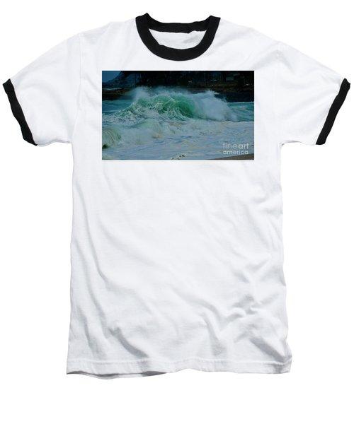 The Power Of Waves Baseball T-Shirt