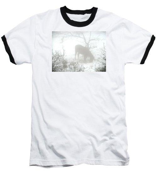 Baseball T-Shirt featuring the photograph The Primal Mist by Annemeet Hasidi- van der Leij