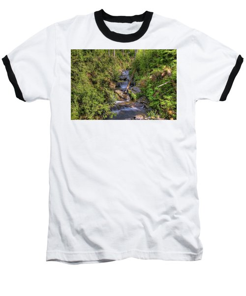 The Quinault Stream 2 Baseball T-Shirt by Richard J Cassato