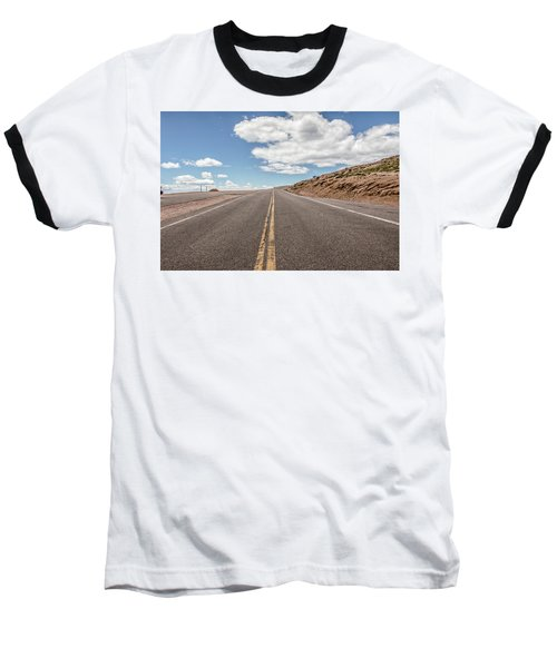Baseball T-Shirt featuring the photograph The Road Up Pikes Peak At Around 12,000 Feet by Peter Ciro