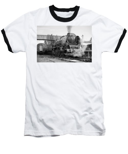 The Royal Scot In Black And White Baseball T-Shirt