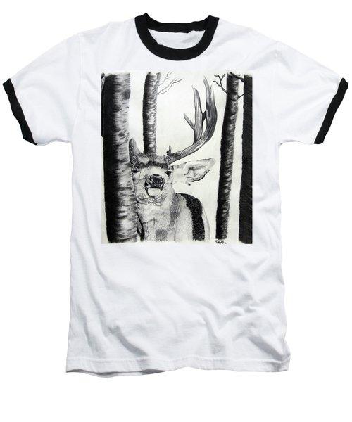 Baseball T-Shirt featuring the drawing The Rutt by Mayhem Mediums