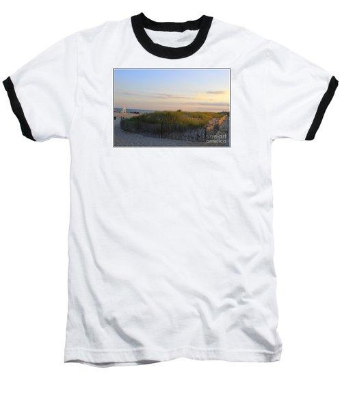 The Sand Dunes Of Long Island Baseball T-Shirt by Dora Sofia Caputo Photographic Art and Design