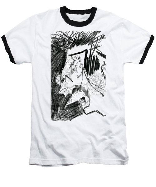 The Scream - Picasso Study Baseball T-Shirt by Michelle Calkins